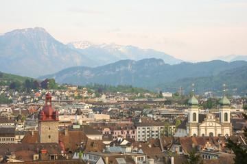 A view over Lucerne, Switzerland