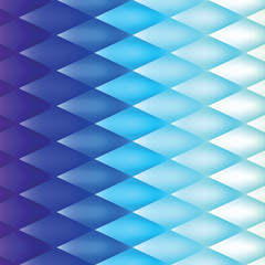 Retro background, pattern rhombs, mesh gradient, transition from light to dark, vector background, blue version