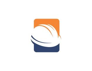 Helmet construction logo