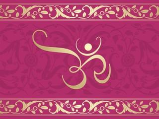 aum syllable, paisley design , Hinduism , India