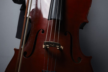 playing the cello closeup