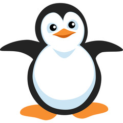 Penguin. Vector Image. Graphic arts.