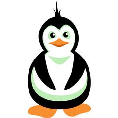 Penguin. Vector Image. Graphic arts.
