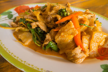 Red curry with boar