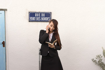 A portrait of Japanese Business Woman travel overseas