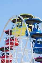 Amusement park with colored liquid