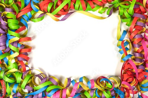 Fasching Deko bunte papierschlangen als faschingsdeko stock photo and royalty