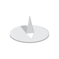 Round drawing pin