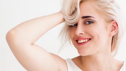 laughing blonde have fun
