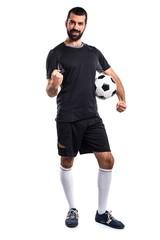 Lucky football player