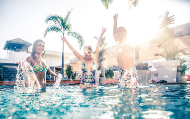 Swimming pool party