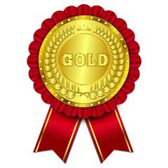 gold token, vector illustration