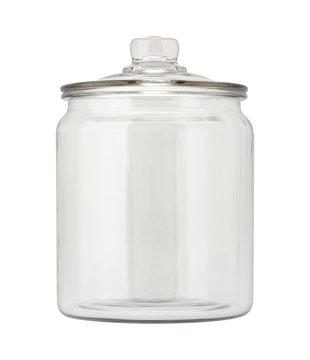 Empty Glass Apothecary Jar