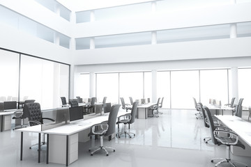 Large, bright modern office
