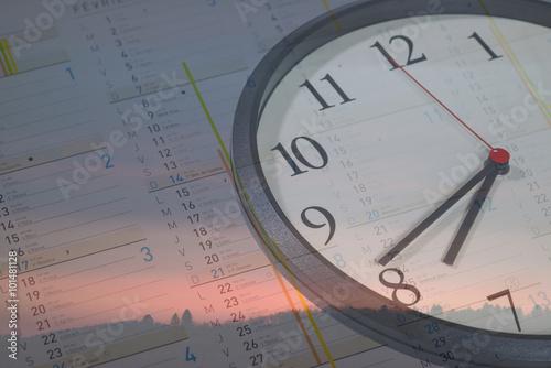 le temps qui passe composition d 39 un calendrier horloge et paysage fotos de archivo e im genes. Black Bedroom Furniture Sets. Home Design Ideas
