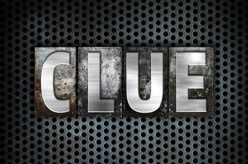 Clue Concept Metal Letterpress Type
