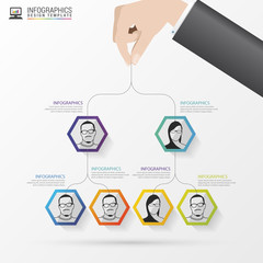 Business structure. Organisation chart. Infographic design. Vector