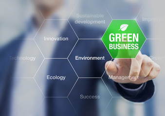Presentation of green business concept for sustainable developme