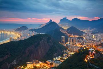 Wall Mural - Night view of Rio de Janeiro, Brazil