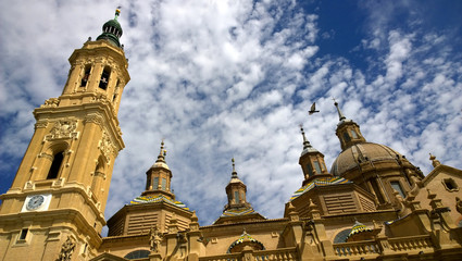 Basilica - Cathedral of Our Lady of Pillar in Zaragoza, Spain