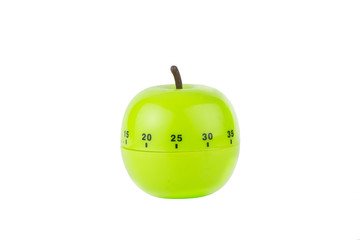 Kitchen timer in the shape of a green apple