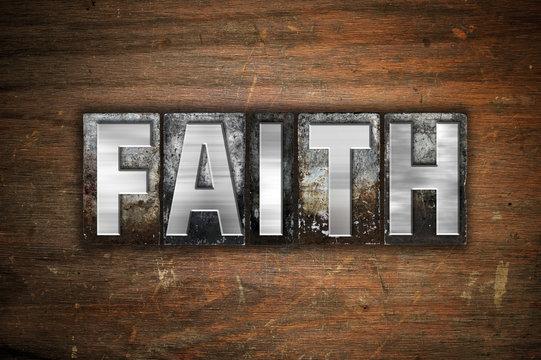 Faith Concept Metal Letterpress Type