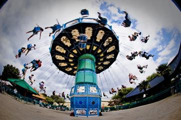 Carousel in theme park