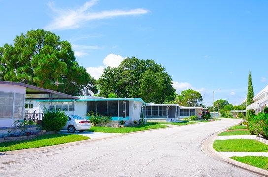 Well Kept Mobile Home Trailer Park in Florida