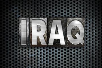 Iraq Concept Metal Letterpress Type