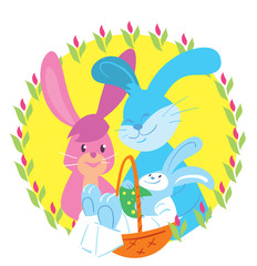 Happy Easter. Easter bunny. Vector illustration.
