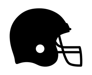 American gridiron football helmet flat icon for apps and sports websites