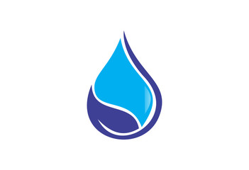 blue water drop symbol design logo