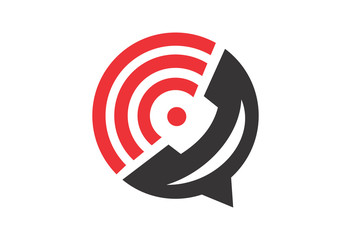 call center business abstract circle logo