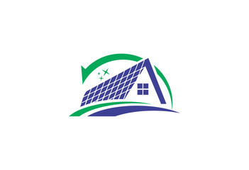 roof with eco technology safe logo