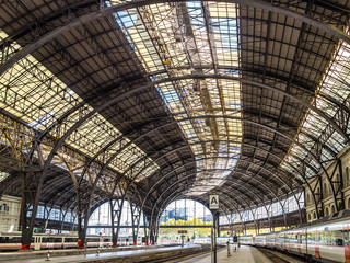 Photo sur Toile Gares Barcelona Train Station