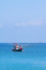 Fishing boat in sea (Thailand).