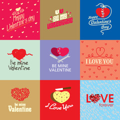 Valentines day vector illustration set