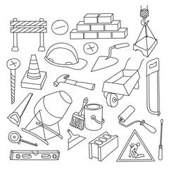 Doodle vektor construction