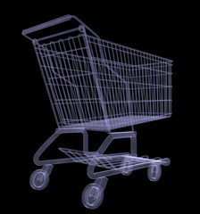 Xray of shopping cart