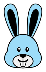 Simple cartoon of a cute rabbit