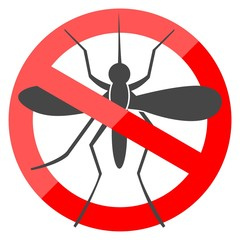 No Mosquito simple sign