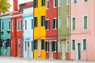 Street on Burano island, Italy