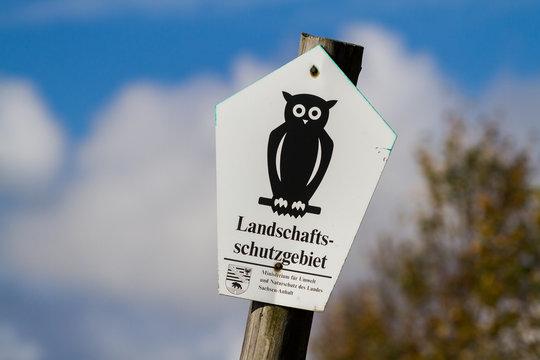 Kennzeichnung Landschaftsschutzgebiet in Sachsen Anhalt Schild a