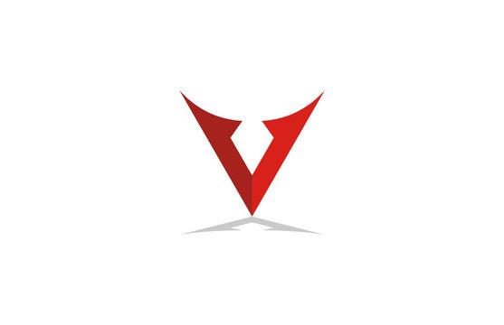 abstract letter v logo