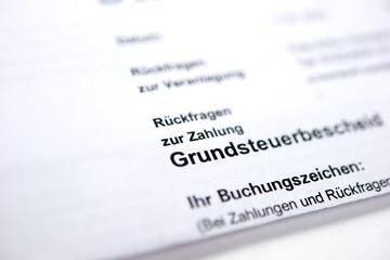 Grundsteuerbescheid