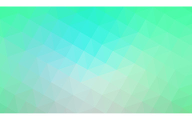 Green polygonal design pattern, which consist of triangles and gradient in origami style.