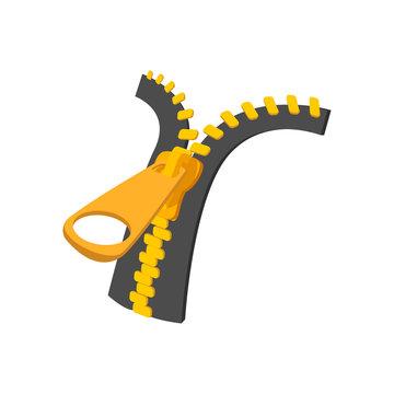 Zipper cartoon icon