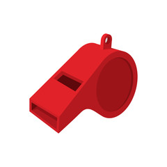 Red whistle cartoon icon