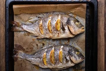 Roasted sea fish