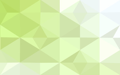 Multicolor green, yellow, orange polygonal design pattern, which consist of triangles and gradient in origami style.